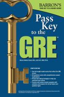 Barron's Pass Key to the GRE