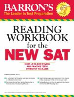 Barron's Reading Workbook for the New SAT
