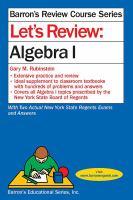 Let's Review: Algebra 1