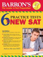 Barron's 6 Practice Tests for the New SAT