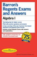 Barron's Regents Exams and Answers