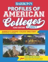 Barron's Profiles of American Colleges 2017