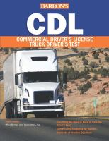 Barron's CDL Commercial Driver's License Truck Driver's Test