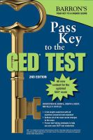 Barron's Pass Key to the GED Test