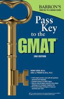 Barron's Pass Key to the GMAT