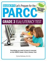 Let's Prepare for the PARCC