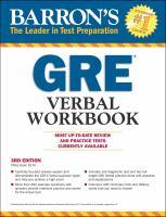 Barron's GRE Verbal Workbook