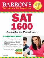 Barron's SAT* 1600