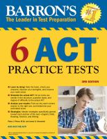 Barron's 6 ACT Practice Tests