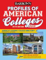 Barron's Profiles of American Colleges 2019
