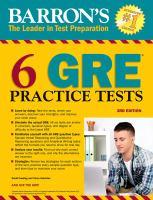 Barron's 6 GRE Practice Tests