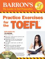 Barron's Practice Exercises for the TOEFL Test of English as A Foreign Language