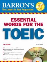 Essential Words for the TOEIC, With Audio CDs