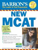 Barron's New MCAT, Medical College Admission Test