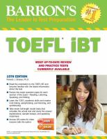 Barron's TOEFL Internet Based Test