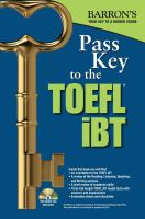 Barron's Pass Key to the TOEFL IBT