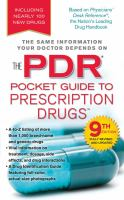 The PDR Pocket Guide to Prescription Drugs