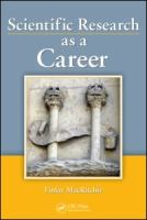 Scientific Research as A Career