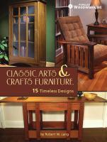 Classic Arts and Crafts Furniture