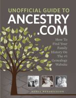 Unofficial Guide to Ancestry.com