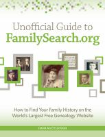 Unofficial Guide to FamilySearch.org