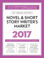Novel & Short Story Writer's Market 2017