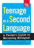 Teenage as A Second Language
