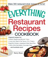The Everything Restaurant Recipes Cookbook