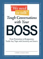 Tough Conversations With your Boss