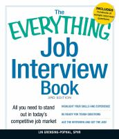 Image: The Everything Job Interview Book