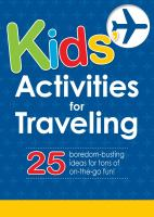 Kids' Activities for Traveling