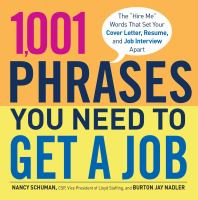 1,001 Phrases You Need to Get A Job