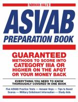 Norman Hall's ASVAB Preparation Book