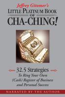 Jeffrey Gitomer's Little Platinum Book of Cha-ching!