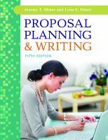 Proposal Planning & Writing