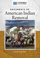 Documents of American Indian Removal