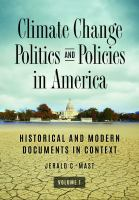 Climate Change Politics and Policies in America