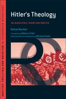 Hitler's Theology: A Study in Political Religion