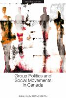 Group Politics and Social Movements in Canada