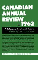 Canadian Annual Review, 1962