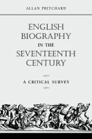 English Biography in the Seventeenth Century