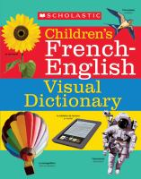 Scholastic children's French-English visual dictionary