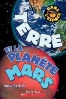 La terre et la planète mars