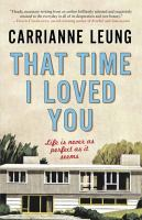 That time I loved you : linked stories