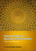 Marked Word Order in the Qurān and Its English Translations