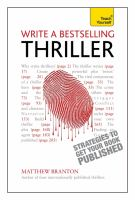Write A Bestselling Thriller