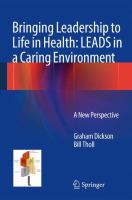 Bringing Leadership to Life in Health