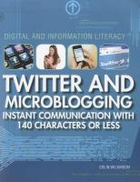 Twitter and Microblogging