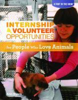 Internship & Volunteer Opportunities for People Who Love Animals
