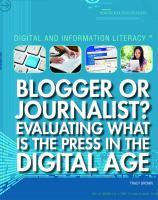 Blogger or Journalist?